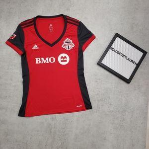 MLS Toronto Adidas Jersey V-Neck Shirt